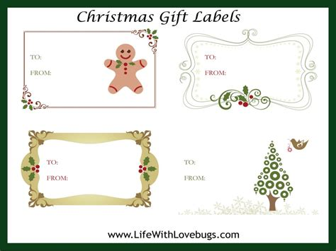 free christmas gift tag label printable christmas