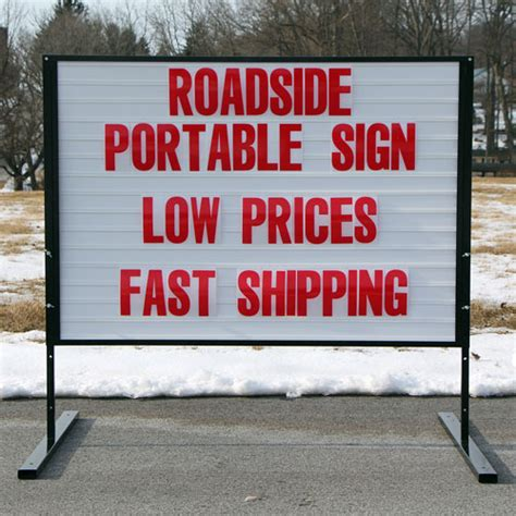 roadside marquee sign portable roadside sign low prices fast shipping rs22