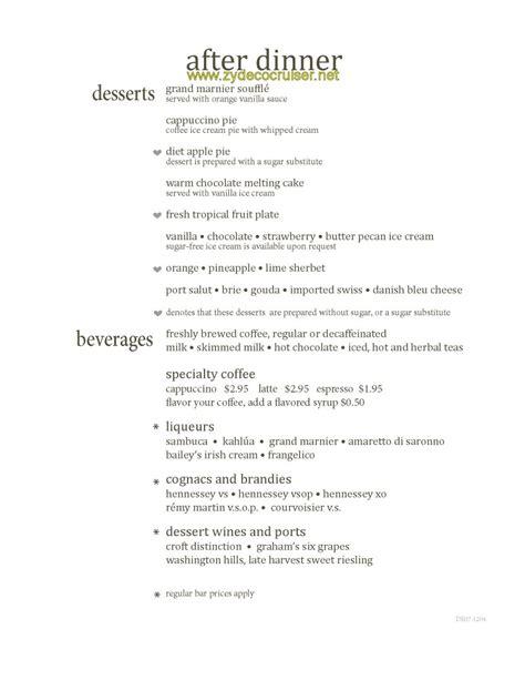 119 carnival magic dining room menus and food