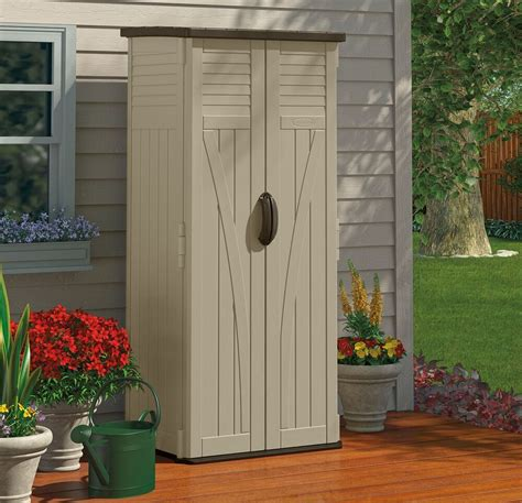 outdoor storage cabinet garden shed tools patio vertical backyard pool tall  ebay