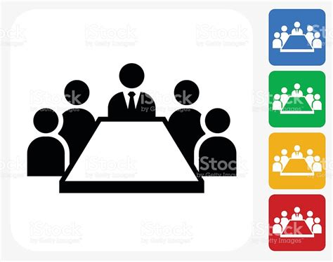 graphic design icons stock vector image of icon design business meeting icon flat graphic design stock vector art