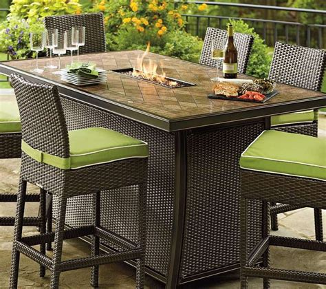bar height patio table with pit unique bar height patio table with pit patio