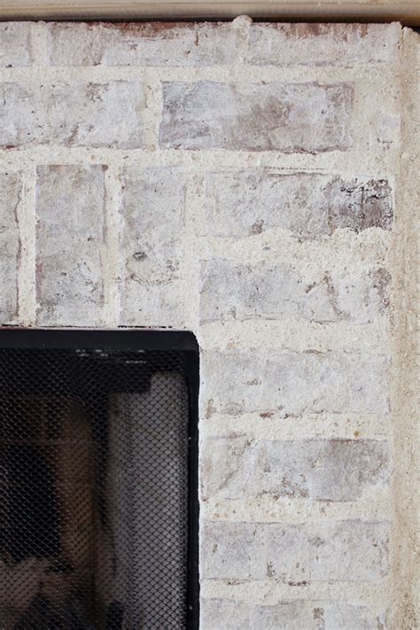 fireplace brick mortar fireplace update mortar washed brick the lettered cottage