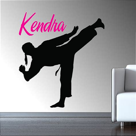 karate wall stickers personalized karate wall decal removable karate wall