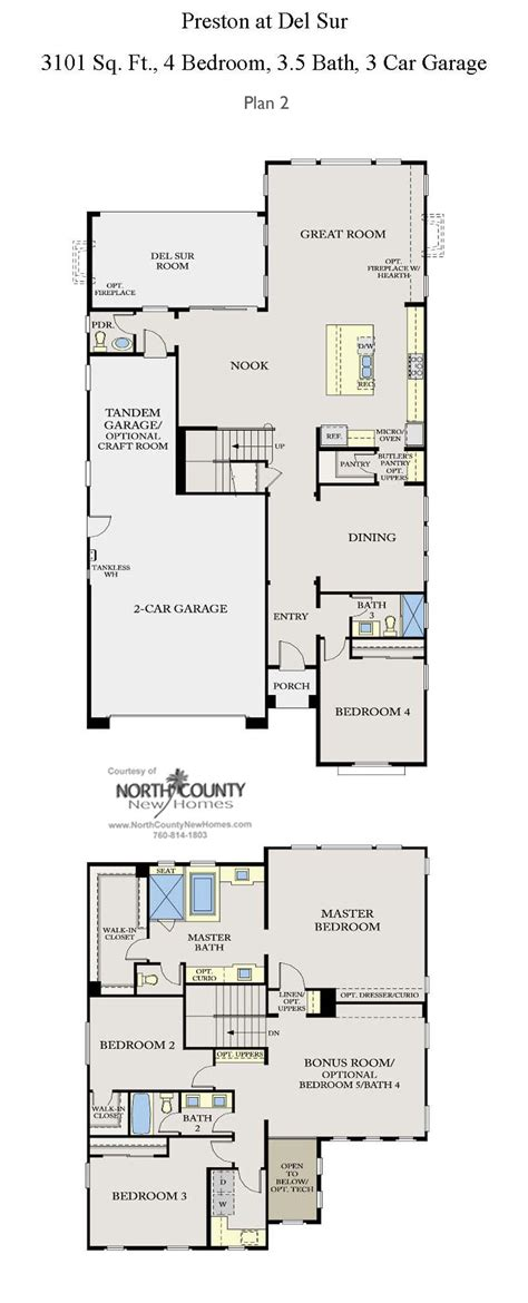 preston floor plan preston at del sur floor plans new homes in del sur
