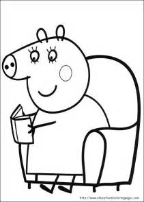 peppa pig coloring page peppa pig in a coloring pages