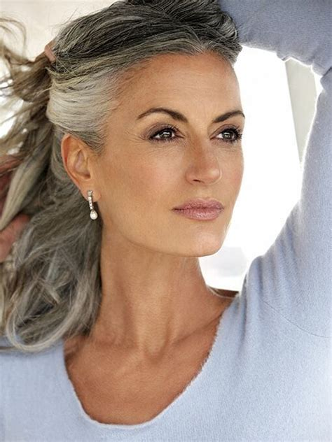 dyed grey hairstyles 84 best salt and pepper hair images on pinterest silver
