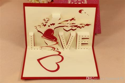 3d thank you card template 3d tree greeting card wedding handmade creative