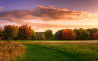 Nat�rliche Landschaft, Herbst Sonnenaufgang, Wald, Himmel