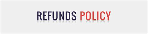 refund policy refund policy