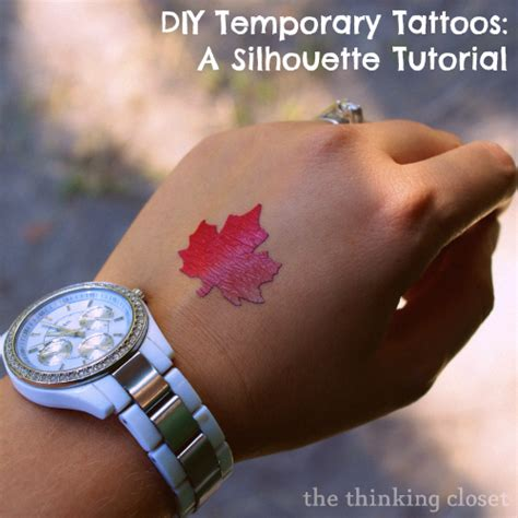 100 homemade fake temporary tattoos using hello