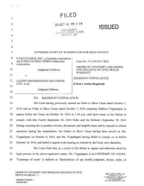 california bench warrant search order of contempt and order for issuance of civil bench