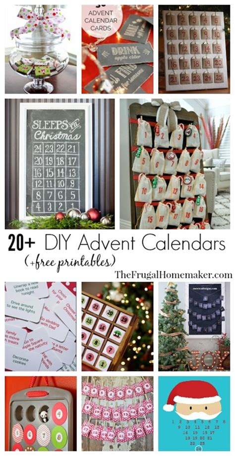 Handmade Advent Calendar Ideas - countdown calendar calendar template 2016