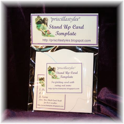 Stand Up Card Template by Color With Quot Priscillastyles Quot Quot Thinking Inside The