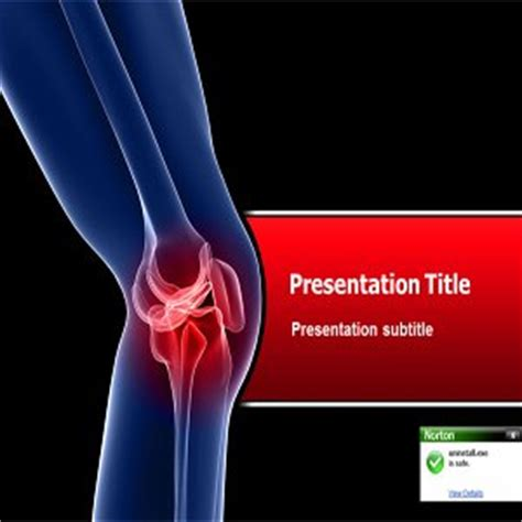 powerpoint templates knee software pain