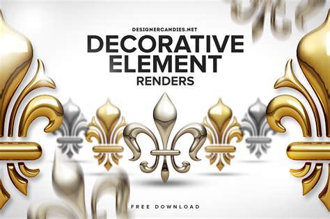 I Decorative by Free Decorative Elements Pack Designercandies