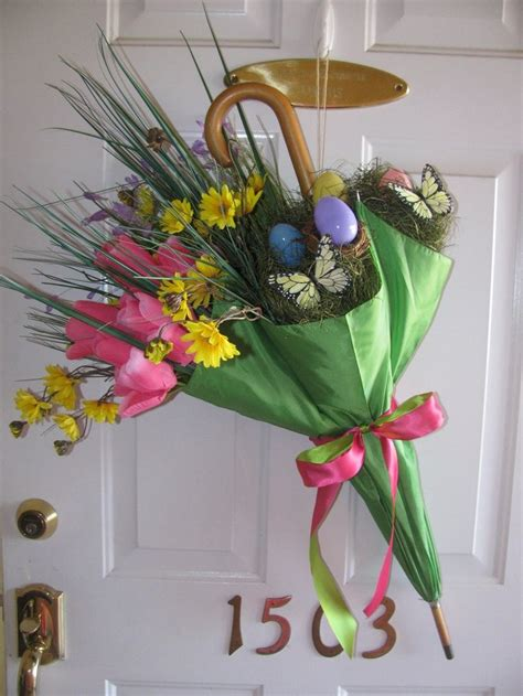 door decorations for spring spring easter front door decor easter pinterest