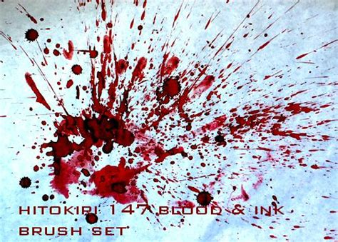 blood splatter brush 373 watercolor ink and blood splatter photoshop brushes