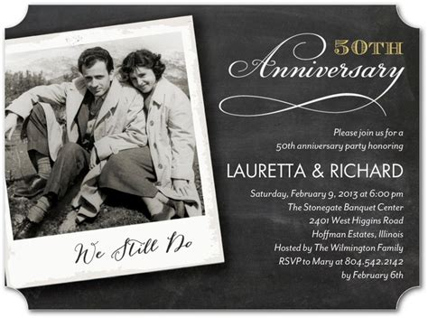 cheap 50th wedding anniversary invitations 32 best wedding anniversary invitations