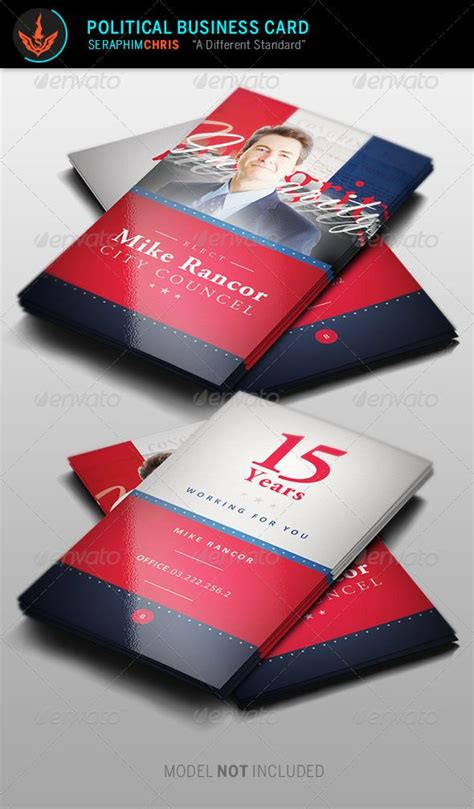 political caign business card templates political business card template 2 corporate business