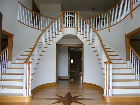 Curved Stairs Design Best Curved Staircase Foyer 7859