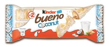 ferrero launches kinder bueno coconut