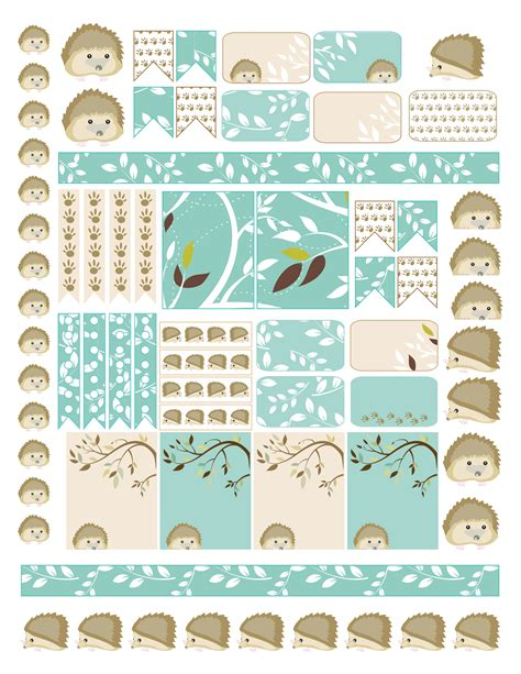 Printable Free Planner Stickers | free hedgehog planner sticker printable laughing and