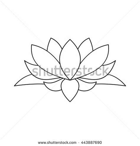Lotus Flower Outline Stock Images Royalty Free Images Lotus Flower Outline