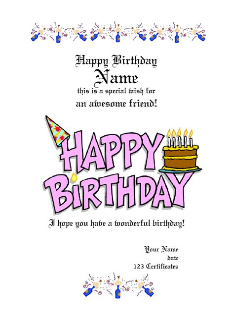 Free Printable Birthday Gift Certificates 2018 Gift Certificate Form Fillable Printable Pdf