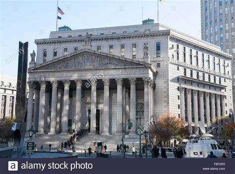Ny Supreme Court Search New York State Supreme Court Building Foley Square Lower Manhattan Stock Photo