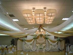 wedding ceiling decorations decorating with fabric up high