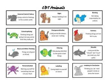 cognitive distortions worksheet search cbt
