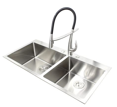 42 Inch Kitchen Sink 43 Inch Top Mount Drop In Stainless Steel Bowl Kitchen Sink 15mm Radius Design
