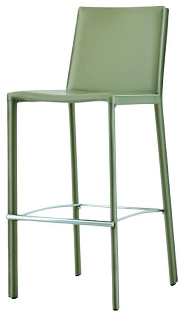 Green Kitchen Bar Stools by Alexia Green Leather Bar Stool Contemporary Bar Stools