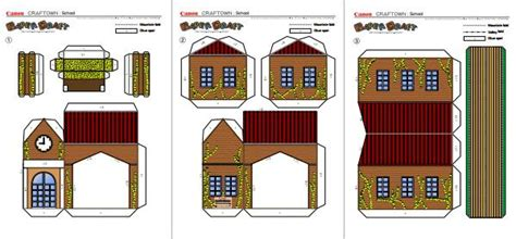 Paper Craft Buildings - papermau school building papercraft for by canon