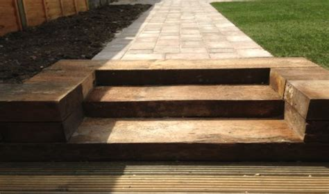 Railway Sleepers Essex by Patios And Paths Services