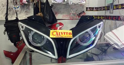 Lu Hid Motor Yamaha R15 alvito pitshop lighting solution contoh projector hid