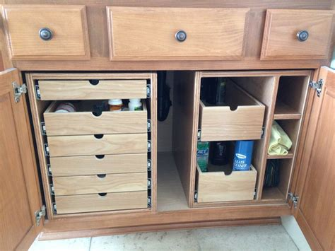 bathroom under cabinet organizers bathroom cabinet storage drawers by td69mustang lumberjocks com woodworking