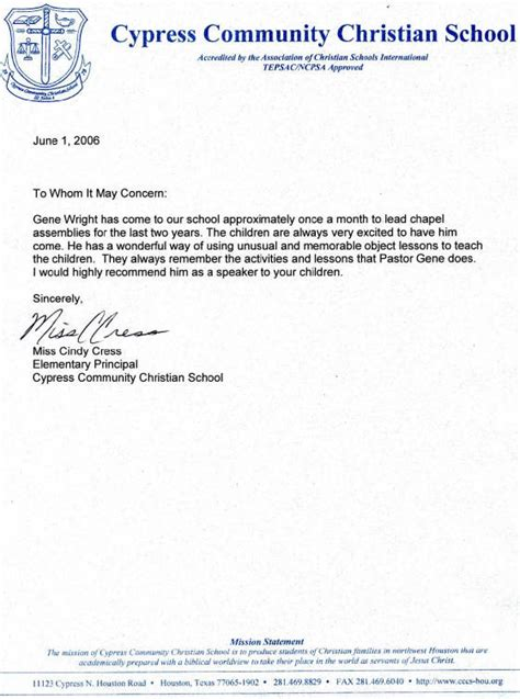 Recommendation Letter For Christian College recommendation letter help houston
