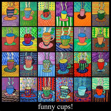pattern art lesson high school arteascuola a cup of fantasy art project ideas
