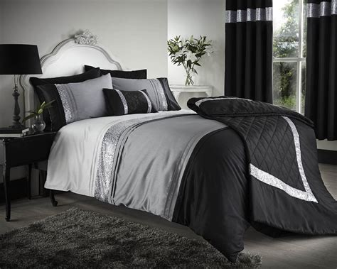 black white and grey bedding bedroom black and gray comforter with sham on grey bed