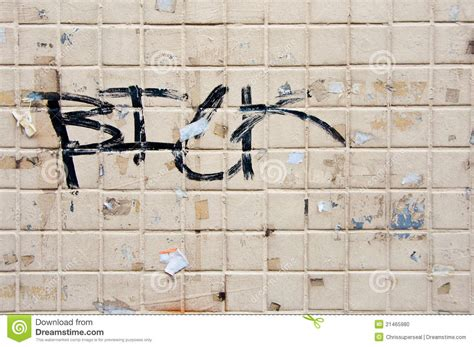 graffiti bathroom tiles grunge graffiti on old tile wall stock illustration