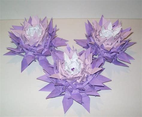 10 origami crane flower origami crane wedding decoration