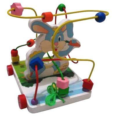 Mainan Alur Kawat Rumah Kelinci wiregame karakter kelinci kayu seru