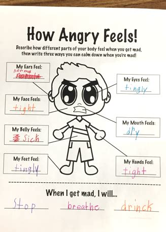 Management Activities For Mba Students Pdf by How Anger Feels Anger Management Worksheet Student