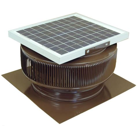 solar powered bathroom exhaust fan active ventilation 1007 cfm brown powder coated 15 watt