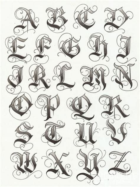 tattoo fonts a z lettering make your middle