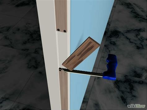 How To Fix Door Frame by How To Repair A Door Frame 7 Steps With Pictures Wikihow
