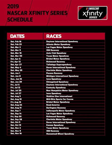 truck racing schedule nascar xfinity truck series 2019 schedules auto racing