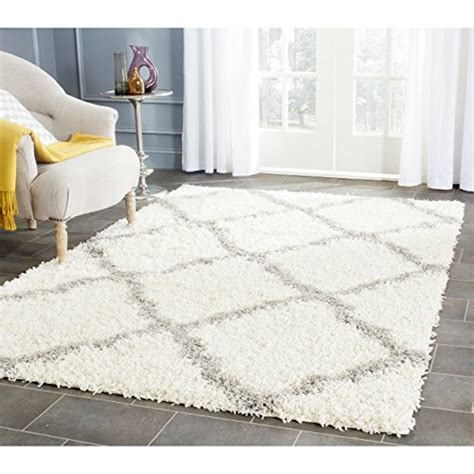 4 X5 Rug by Safavieh Dallas Shag Collection Sgd257f Ivory And Grey